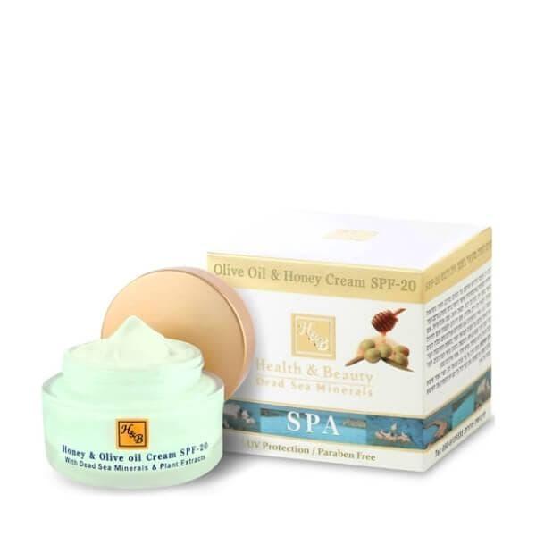 Крем для лица с медом и оливковым маслом SPF 20 для нормальной и сухой кожи