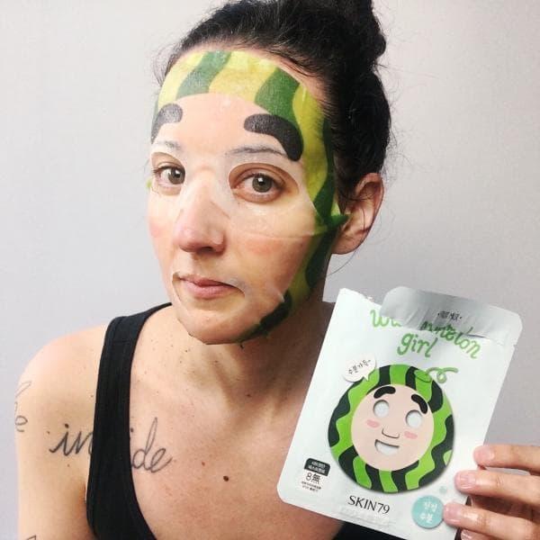 Тканевая маска -Арбузик- для придания мягкости коже