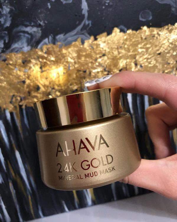Минеральная маска для лица с 24К золотом