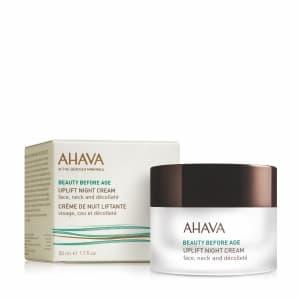 Ночной крем для подтяжки кожи лица шеи и декольте Ahava