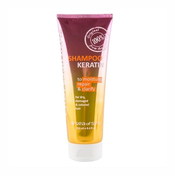 Профессиональный шампунь для волос с кератином