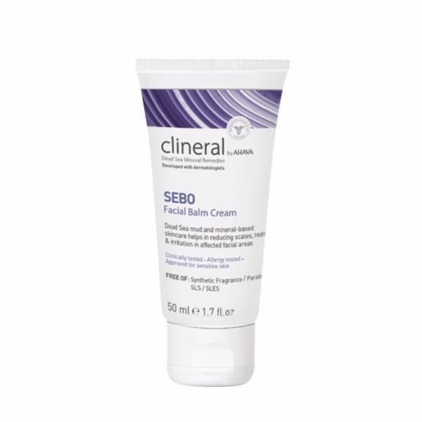 Крем-бальзам для кожи лица с признаками себореи и раздражения Clineral Sebo