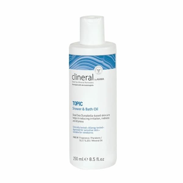 Масло для ванны и душа для кожи с признаками дерматита и раздражения Clineral Topic