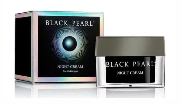 Ночной крем против морщин Black Pearl Night Cream с жемчугом, минералами Мертвого моря