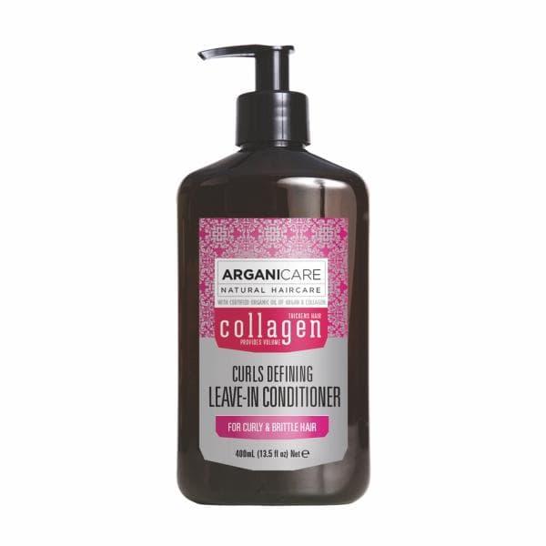 Коллагеновый несмываемый кондиционер для сухих и ломких волос Arganicare Collagen